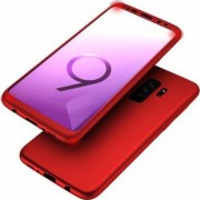 Husa Samsung Galaxy S9 FullBody Elegance Luxury Rosu acoperire completa 360 grade+folie de protectie gratis