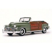 ModelToyCars 1948 Chrysler Town & Country Convertible, Green - Sun Star 6142 1/18 Scale Diecast Model Toy Car