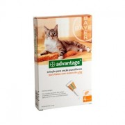 Advantage 40 Gato Até 4kg - 4 Pipetas - Bayer