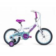 Bicicleta Niña Mercurio Sweet Girl R16 Blanco Nacarado/azul