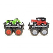 Mozlly Red and Green Four Wheeler with 360 Turn Function Vehicle