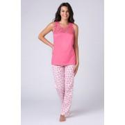 Jersey női pizsama, rózsaszín