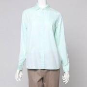 【SALE 70%OFF】ヒューマンウーマン HUMAN WOMAN outlet Charlot Dessert カラー長袖シャツ (グリーン)