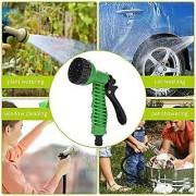 Water spray gun with Pipe/hose 10 meter - Green