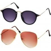 Freny Exim Aviator Sunglasses(Violet, Orange)