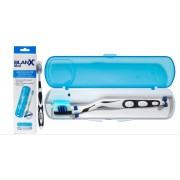 BERREN BlanX Med UV-Desinfektionsmittel für manuelle Bürsten + BlanX-Zahnbürste