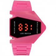 AR Pink Rocket Shape Stealth Digital Watch For Girls