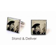 Tyler & Tyler Stencilart White Bricks Cufflinks Stand & Deliver
