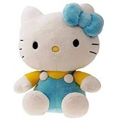 SANA Hello Kitty Soft Toy Character Specially Designed for Kids to Carry Everywhere Stuff | Attractive Designer and Stylish | Perfect for Gifting Purpose | Return Gift | Birthday Gifts (Blue, 26cm)
