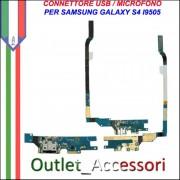 Flat Connettore Usb Ricarica Microfono per Samsung Galaxy S4 I9505 GT REV 2.5 Originale