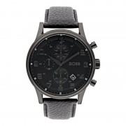 Boss Chronograph mit Armband aus echtem Leder