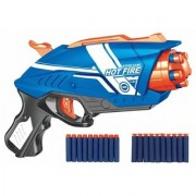 Kid's Blaze Storm Manual Soft Bullet Gun with 20 Foam Bullets and Suction Darts