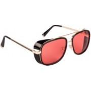 Voyage Retro Square Sunglasses(Red)