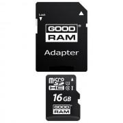 Goodram $$ Memory Card M1aa Microsd Hc 16 Gb + Adattatore Sd Classe 10 Per Modelli A Marchio Goclever
