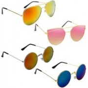 Vitoria Aviator, Round, Cat-eye Sunglasses(Multicolor)