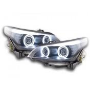FK-Automotive fari Angel Eyes CCFL xeno BMW serie 5 E60/E61 anno di costr. 05-08 nero