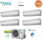 Daikin Climatizzatore Condizionatore Daikin Quadri Split Inverter Serie Ftxm R-32 Perfera 2018 Bluevolution 9+9+9+12 Con 4mxm68m/n