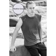 Sauvage Mesh Arm Bamboo Muscle Top T Shirt Heather Grey