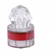 ER Forma LED Diamond Deep Sea Fishing Lámpara LED Atraer Luz Pesca De Diversión Rojo.