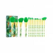 Set 14 pensule profesionale Docolor Tropical Series din fribre sintetice pentru oci, fata si buze