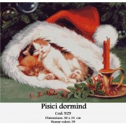 Pisici dormind (kit goblen)