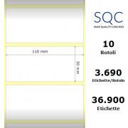 Etichette SQC - Carta normale (vellum) (bobina), formato 110 x 50