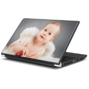 Cute Baby with wings Laptop Skin by Artifa