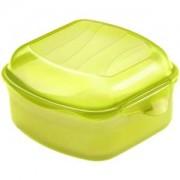 Rotho Kunststoff AG Rotho FUN Funbox, 450 ml Dose, Aufbewahrungsbox / Brotdose aus Kunststoff, Maße: 115 x 110 x 65 mm, Farbe: lime grün