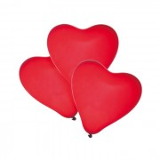 Baloane rosii forma de inima, set 50, Herlitz