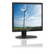 "Philips S-line 17S4LSB - Monitor LED - 17"" - 1280 x 1024 - 250 cd/m² - 1000:1 - 5 ms - DVI-D, VGA - preto com textura com apoio"