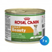Pachet Royal Canin Mini Adult Beauty, 7 x 195 g