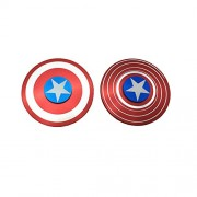 Excel Productions Captain America Metal Shield Hand Spinner, Red