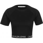 Calvin Klein Logo Elastic Milano Damen T-Shirt schwarz Gr. XS