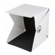 ER Portátil Mini Photo Studio Box Fotografía Telón de fondo luz incorporada Foto Box