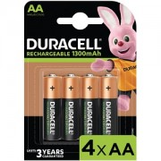 Duracell Rechargeable AA 1300mAh - 4 Pack (HR6-B)