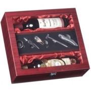 Box na 2 vína s příslušenstvím pro víno prosklený