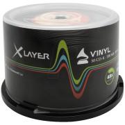 CD 8050 XL-V - XLayer CD-R 80min, Vinyl-Optic, 50-er Cakebox