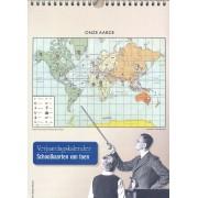 Kalender Verjaardagskalender met afbeeldingen van oude schoolkaarten | Bakker en Rusch
