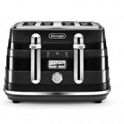 DeLonghi CTA4003.BK 4 Slice Avvolta Toaster - Black