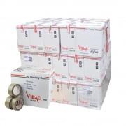 Palet 3024 Role Banda Adeziva VIBAC Solvent, 48mm x 60m - Benzi Maro pentru Ambalare