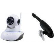 Zemini Wifi CCTV Camera and HM 1000 Bluetooth Headset for LG OPTIMUS L5 II DUAL(Wifi CCTV Camera with night vision  HM 1000 Bluetooth Headset With Mic )