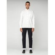 Ben Sherman Main Line Plain Marl Long Sleeved Shirt XS Ecru