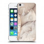 Műanyag átlátszó tok az alábbi mobiltelefonokra Apple iPhone 5/5S/SE - Cream marble