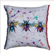 ECO Collection Kussen 3 Bijen Gekleurd 45x45cm