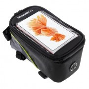 Roswheel - Fietshouder Frametas Extra Groot Zwart Groen (160 x 80mm)