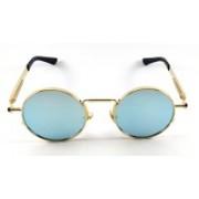 SHOKY LOOKS Round, Wrap-around Sunglasses(Green)