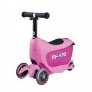 Mini2go Deluxe Plus roller tologató rúddal, pink