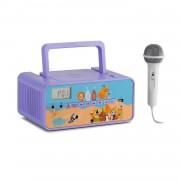 Auna Kidsbox Zoo, CD Boombox, CD плейър, bluetooth, FM, USB, LED дисплей, живони, лилаво (KC14_Kidsbox Zoo)