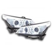 FK-Automotive fari Angel Eyes CCFL xeno BMW serie 5 E60/E61 anno di costr. 05-08 cromato