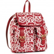 Раница PINKO - Love Mini Backpack Monogram AI 20-21 PLTT 1P21WB Y6NQ Rosso/Bian RZ1